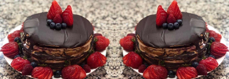 torta keto manjar frambuesa